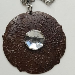 GASOLINE GLAMOUR Jewelry - GYPSY queen MEDALLION MOONDUST necklace new